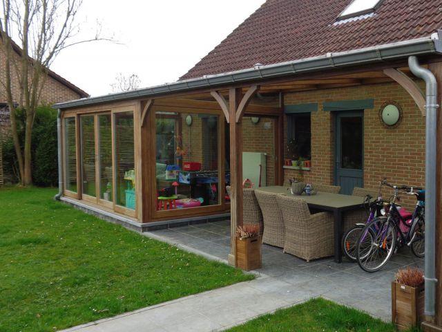Houten veranda-pergola