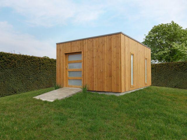 Modern Cube Tuinhuis met schuifdeur en ramen
