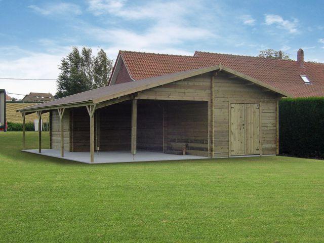 Garage classique avec pergola