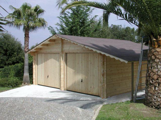 Doubel garage classique en bois