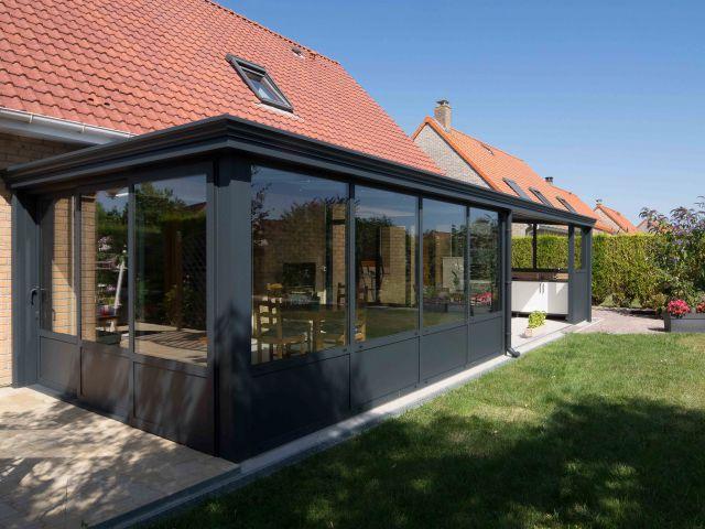Moderne veranda-pergola in aluminium