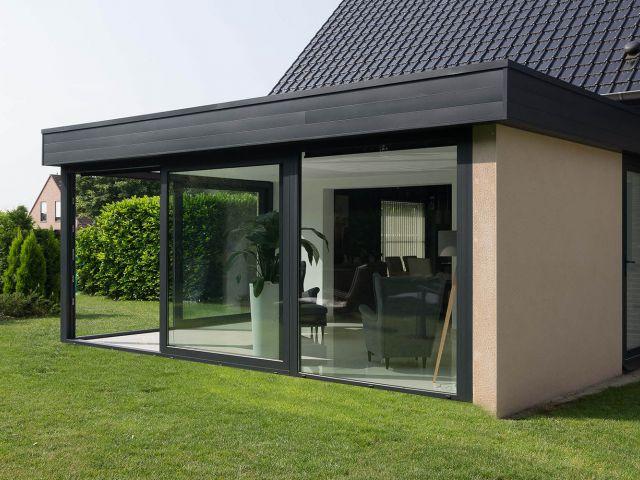 Agrandissement de maison moderne