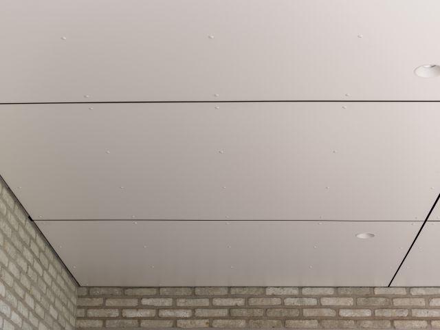 Trespa plafondafwerking van moderne terrasoverkapping