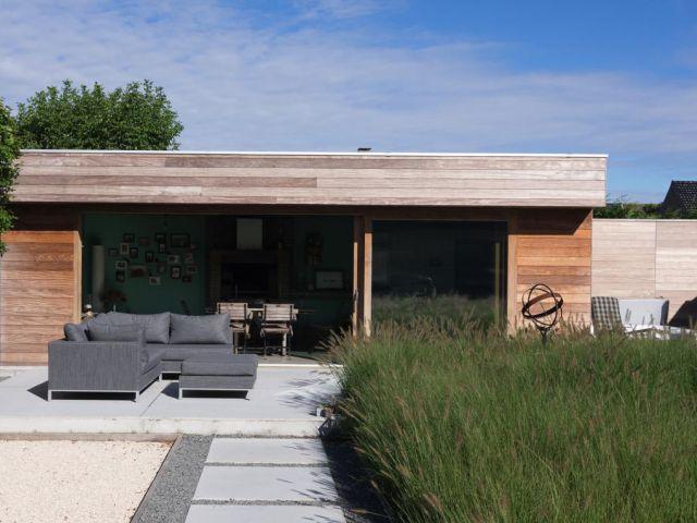 Poolhouse op maat met plat dak