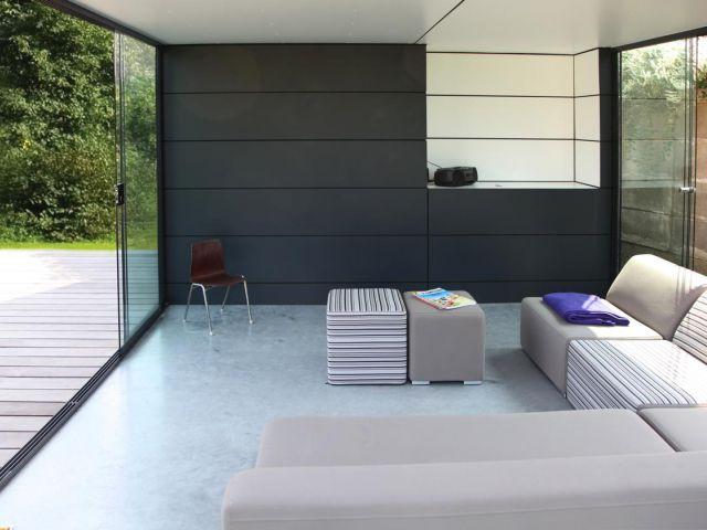 Poolhouse op maat met lounge