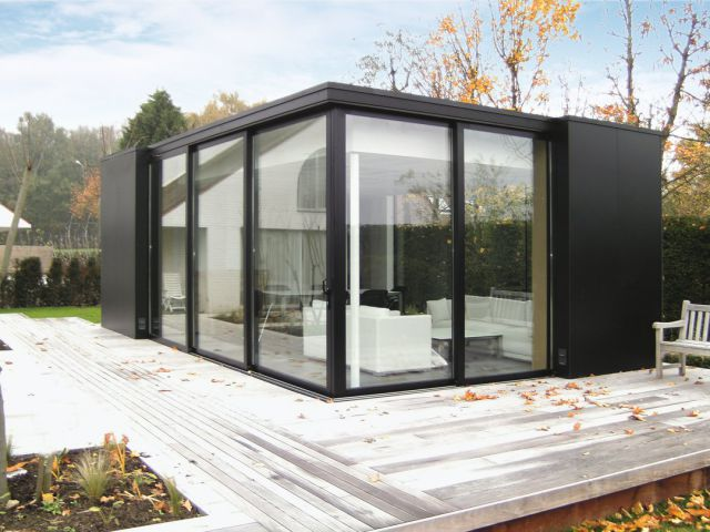Poolhouse in aluminium en Trespa