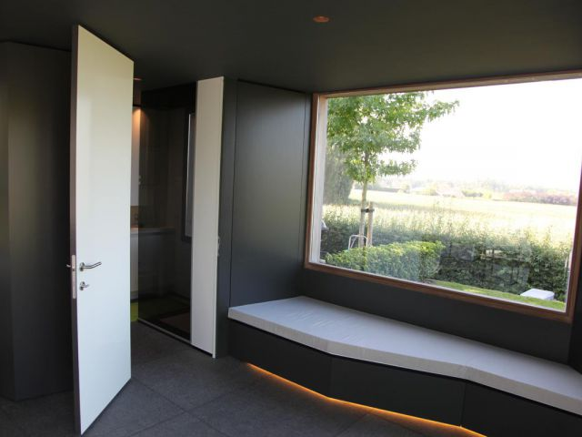 Interieur houten poolhouse