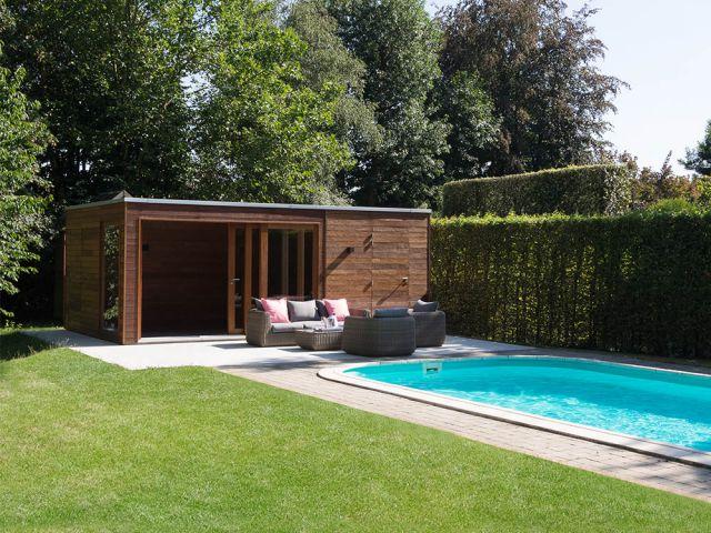 Pool house avec espace de stockage