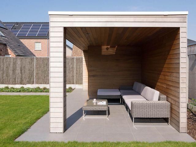 Tuinhuis met terrasoverkapping