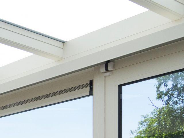 Veranda in aluminium met ventilatiesysteem