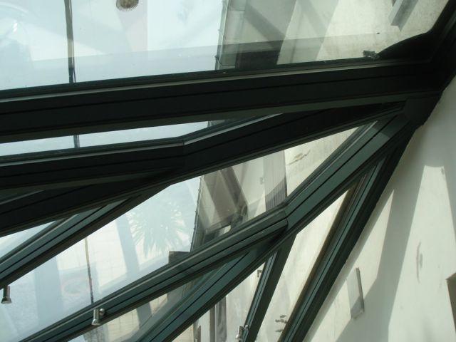 Véranda en aluminium Trianon avec spots
