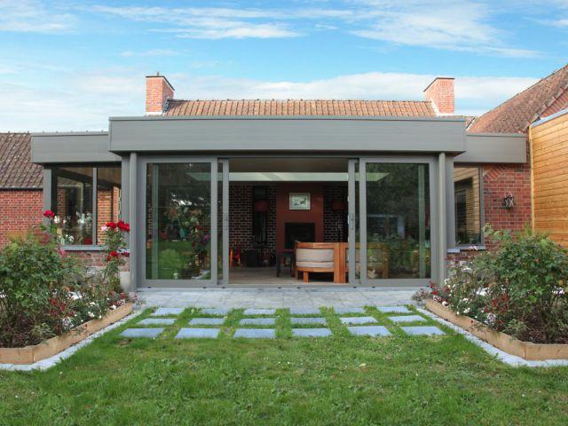 Moderne leefveranda met plat dak