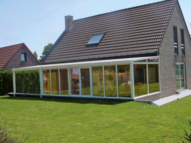 Wit gelakte aluminium veranda-pergola
