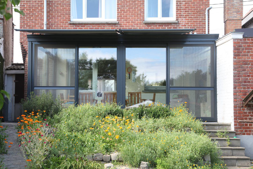 veranclassic v randa en aluminium toit plat. Black Bedroom Furniture Sets. Home Design Ideas