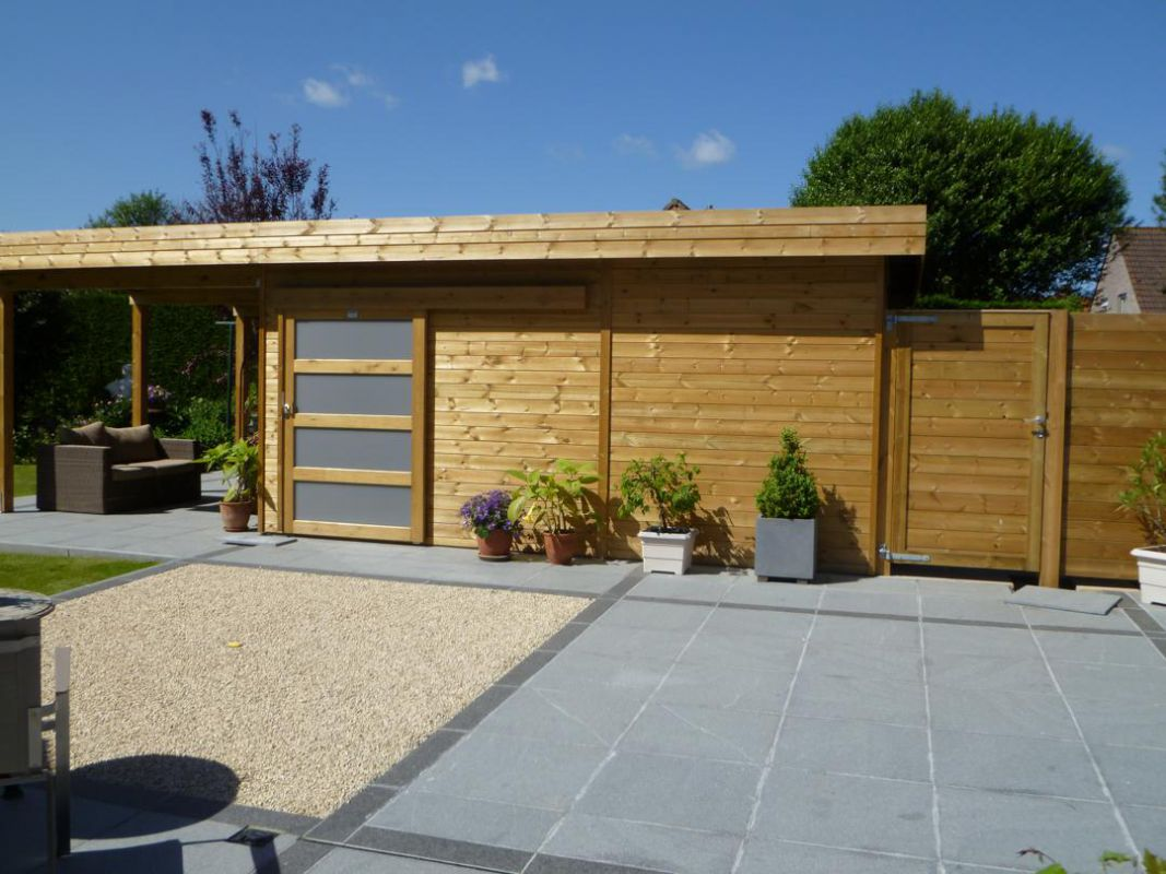Modern deco terras maison design navsop