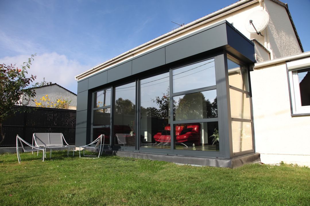 veranclassic leefveranda in aluminium en volkern trespa. Black Bedroom Furniture Sets. Home Design Ideas