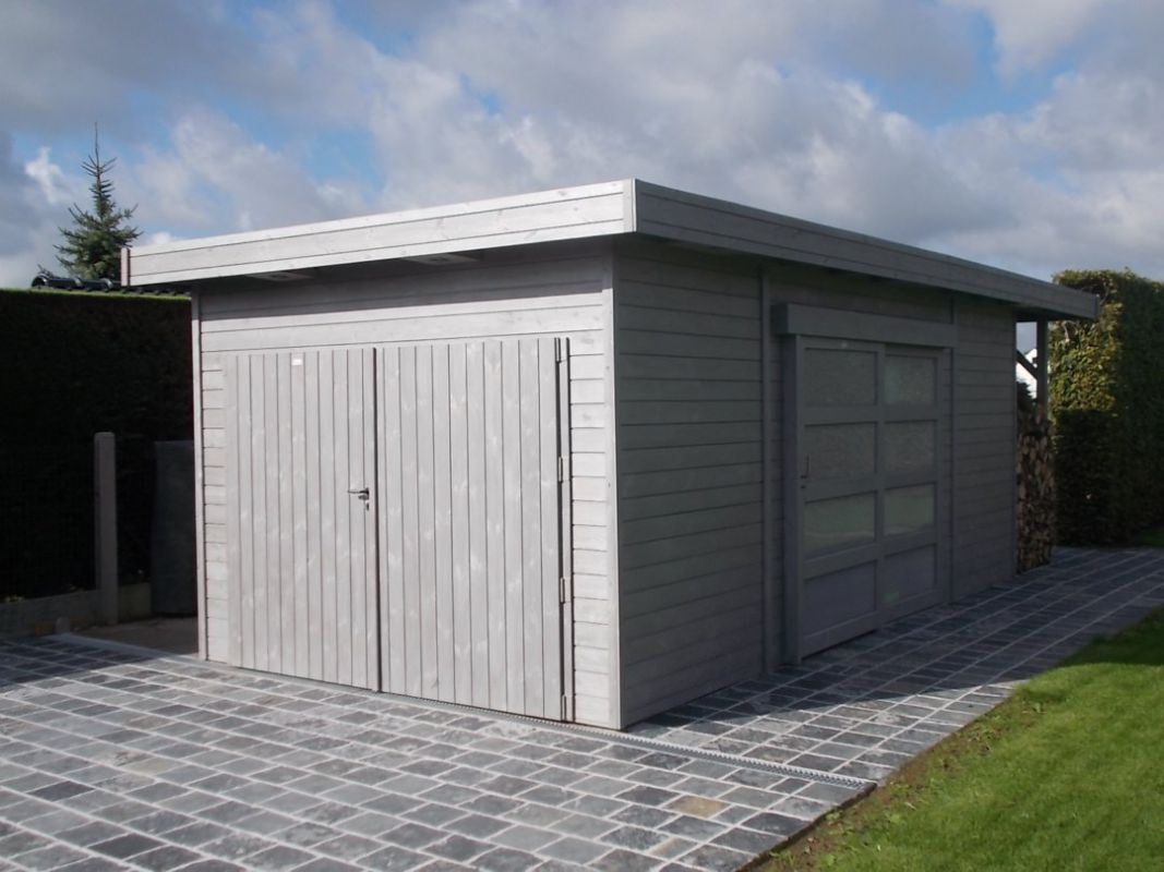 #4E5E2117 Moderne Garage Met Schuifdeur Bild speichern Moderne Garagen 1067x800