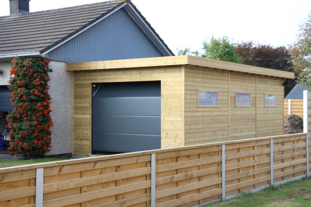 Veranclassic un garage sur mesure en bois de 1 re qualit for Garage en bois en solde