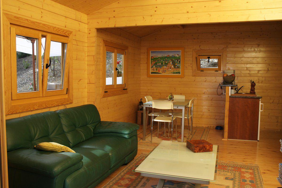 Veranclassic houten chalets - Houten chalet interieur ...