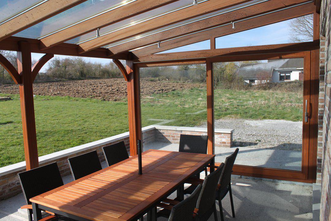 Pergola hout bedekt maison design obas