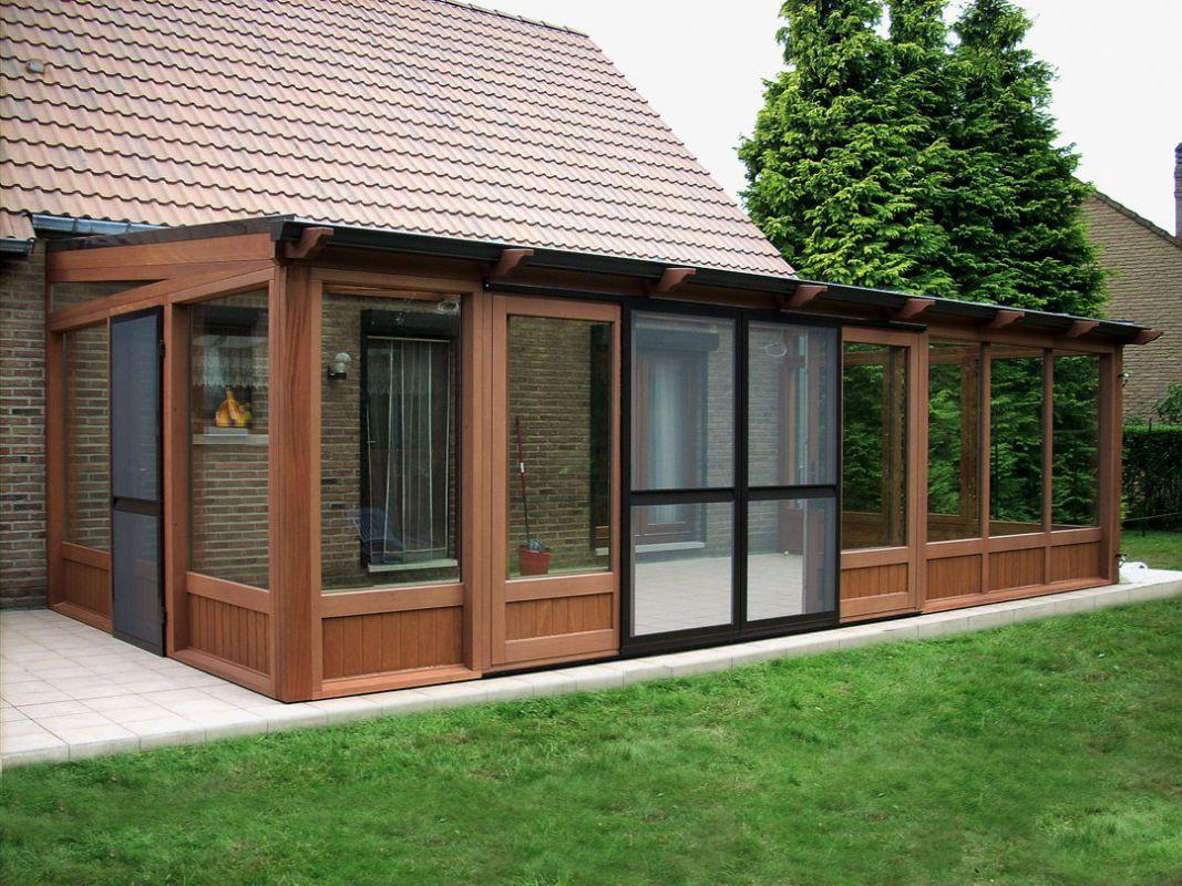 Veranclassic houten of aluminium veranda for Houten veranda