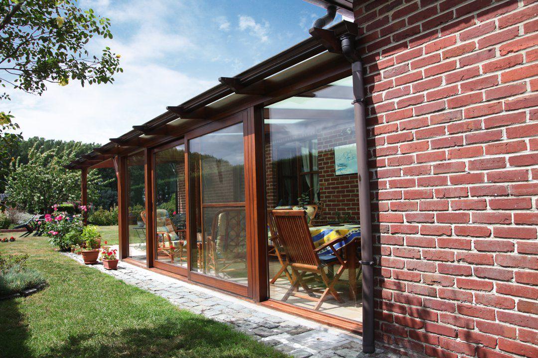 Ontdek onze veranda pergola in hout of aluminium veranclassic - Bedek een houten pergola ...