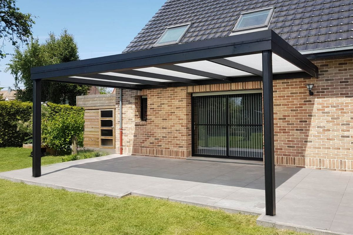 Ongekend Veranclassic // Moderne aluminium terrasoverkapping SW-23