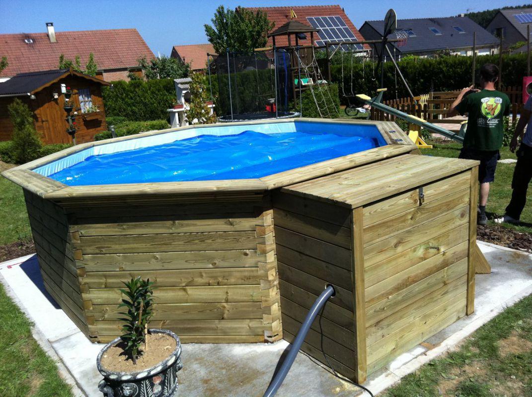 Veranclassic geniet van een houten zwembad - Houten strand zwembad ...