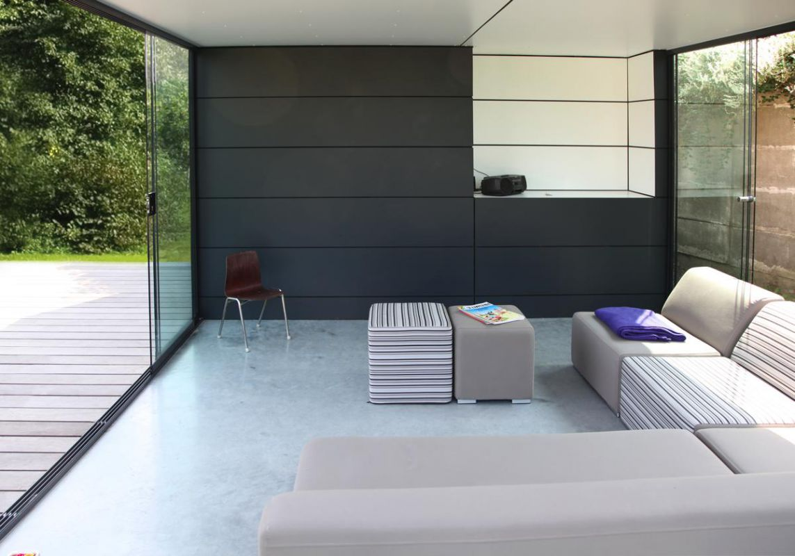 veranclassic poolhouse in trespa. Black Bedroom Furniture Sets. Home Design Ideas