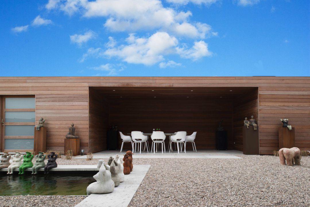 Veranclassic poolhouse met overdekt terras