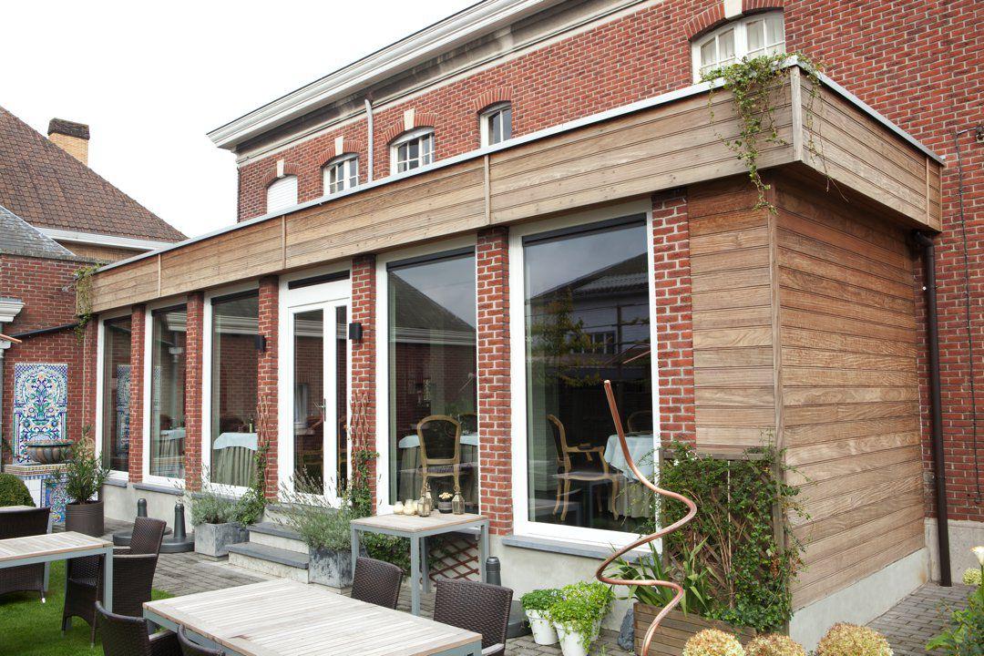 Veranclassic uitbouw veranda in hout voor restaurant