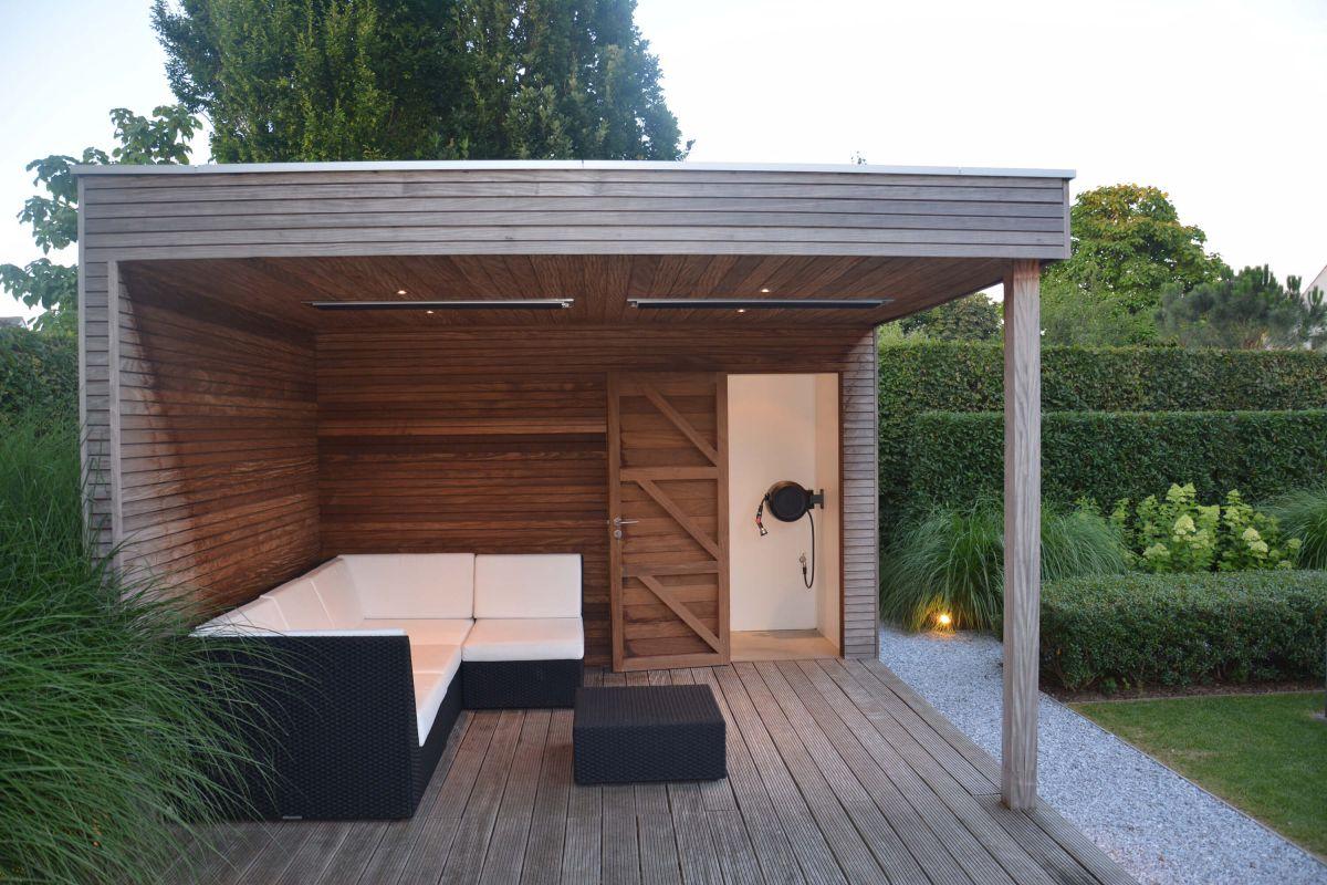 pool house bois toit plat abri de jardin bois toit plat pool house jukta 36m2 double chalet a. Black Bedroom Furniture Sets. Home Design Ideas