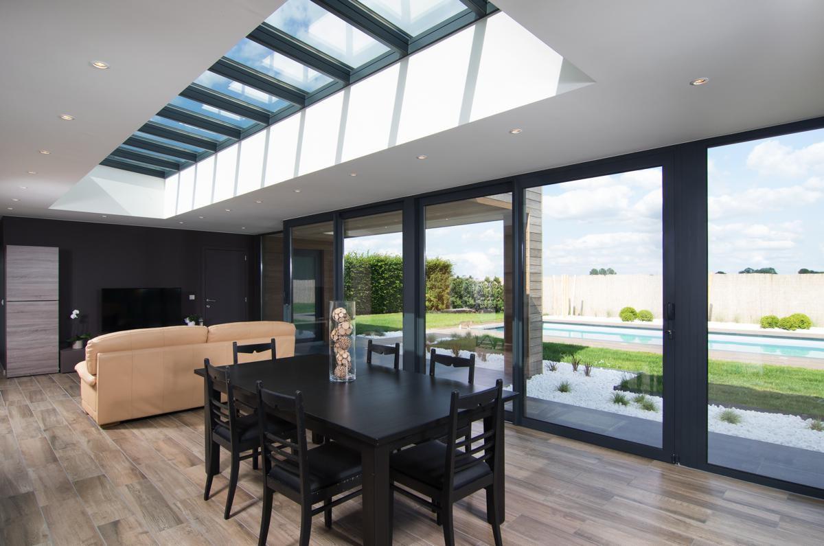 Veranclassic extension v randa mixte en bois et aluminium for Luminaire exterieur ral 7016